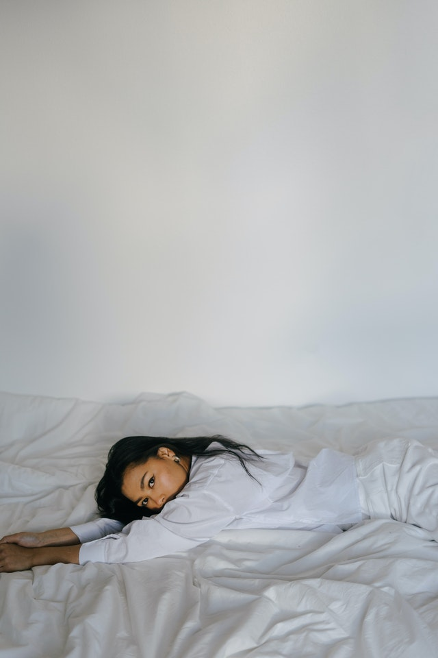 chinese girl in bed